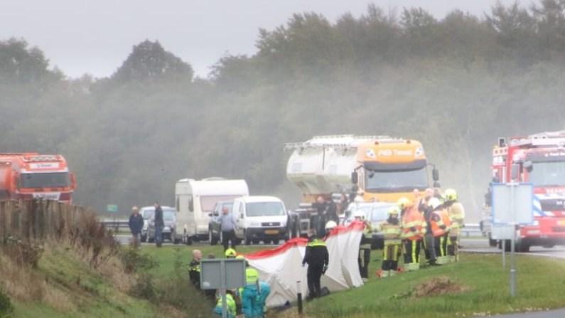 Bestuurster raakt ernstig gewond Bij eenzijdig ongeval bij Wijnjewoude