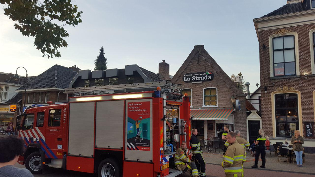 Video Korte Brand bij Pizzeria La Strada in Drachten