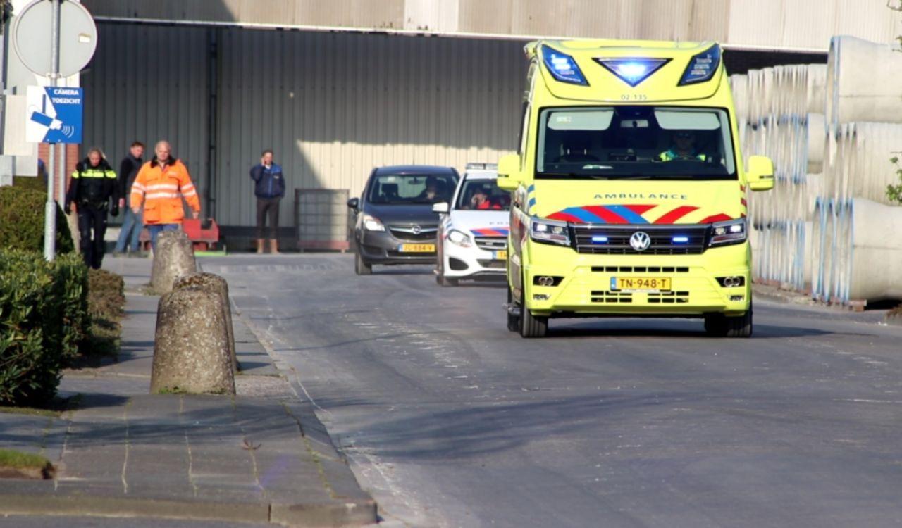 Medewerker zat vast in net gestorte beton in Drachten