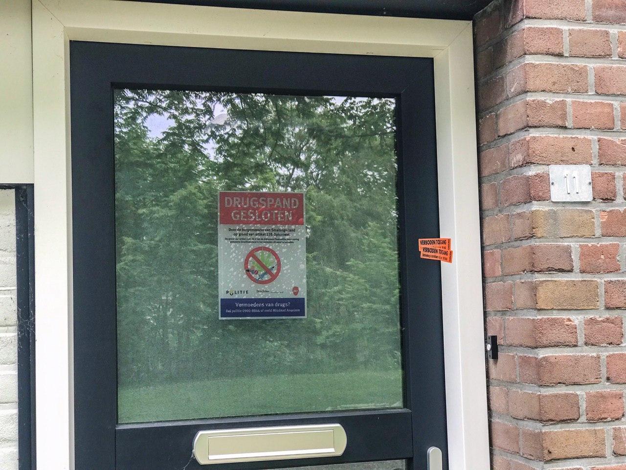 Burgemeester van Smallingerland sluit drugspand in Drachten