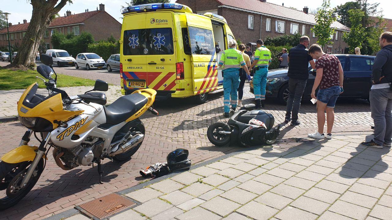 Motorrijder in Botsing met Scooterrijder in Drachten