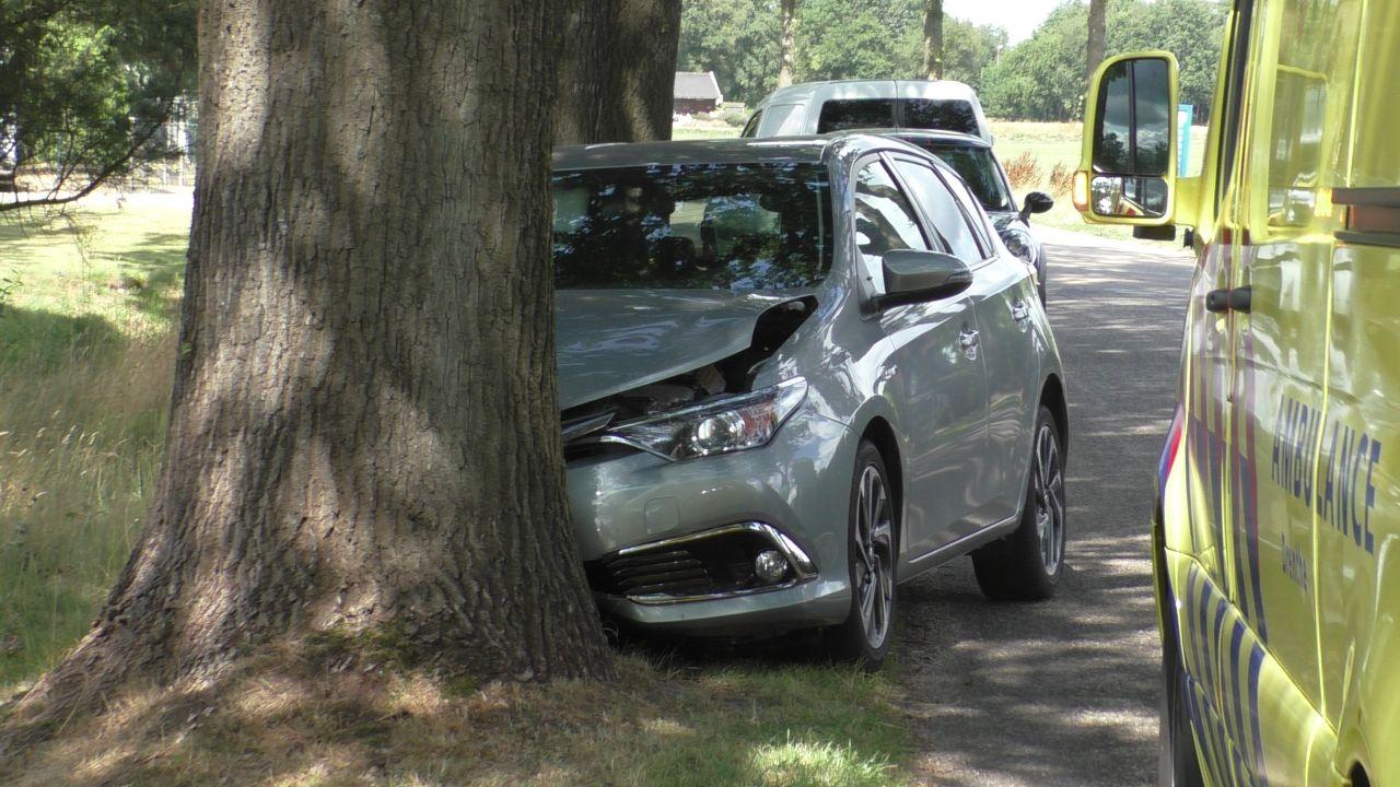 bestuurster raakt ligt gewond na botsing tegen boom
