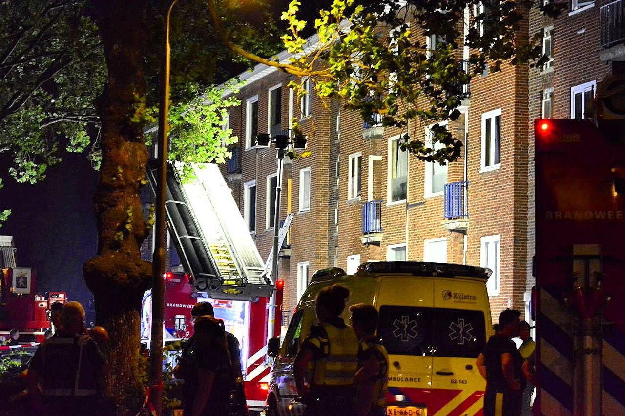 Grote kelder brand in Leeuwarden