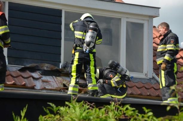 Korte dakbrand in Leeuwarden