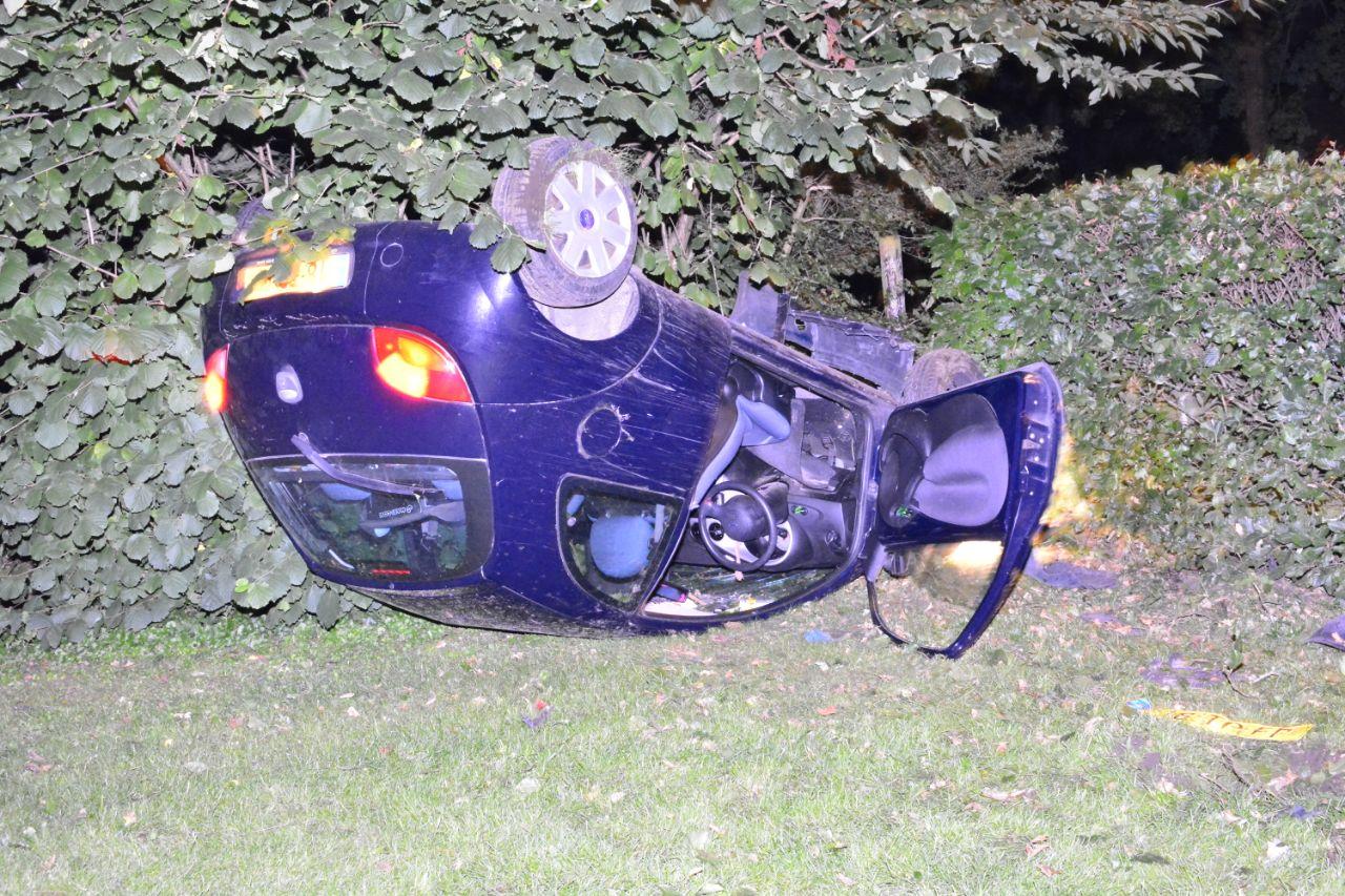 Bestuurster ongedeerd na eenzijdig ongeval