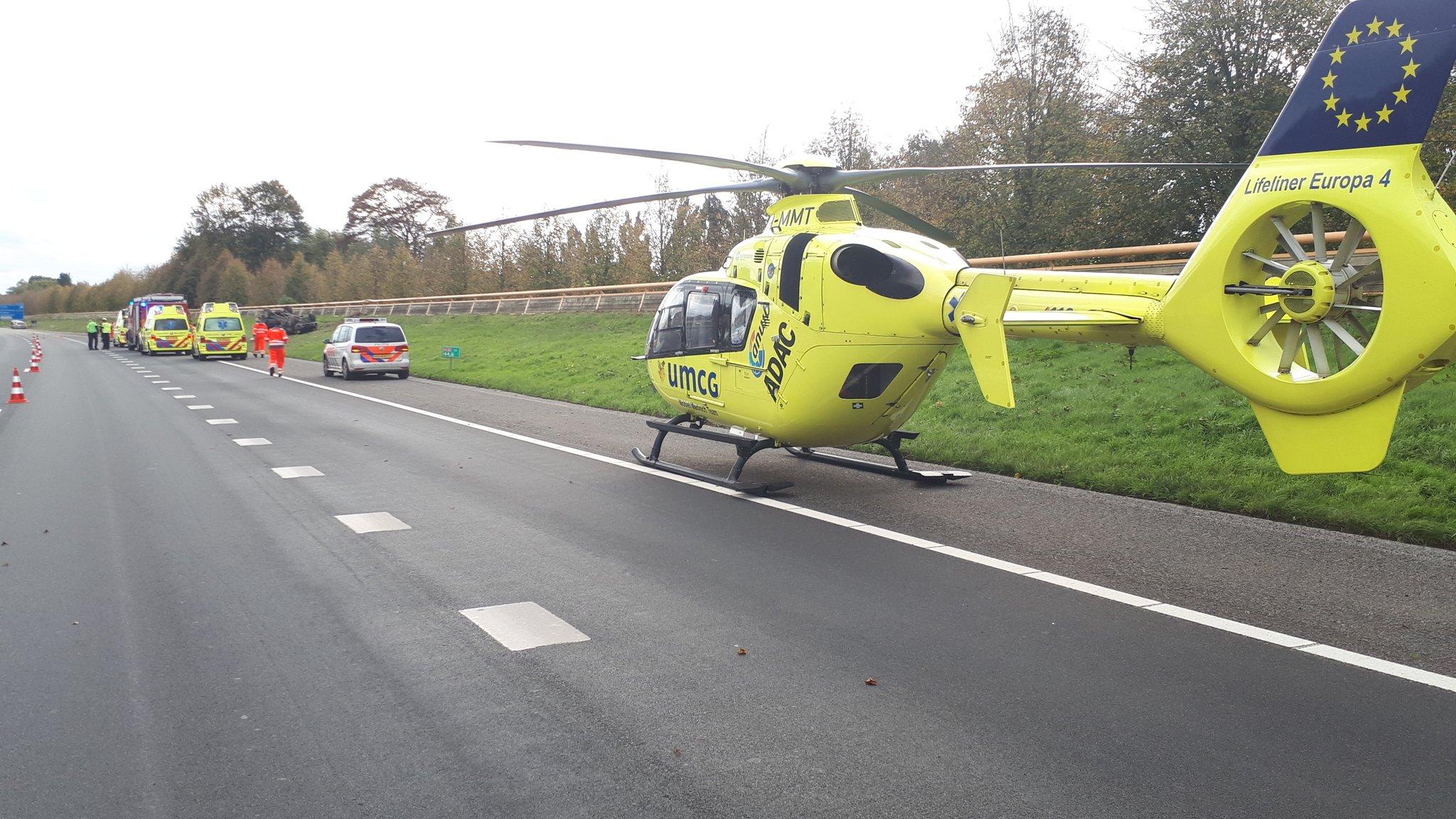 Drie Gewonden bij Ernstig verkeersongeval op de A32 bij Heerenveen