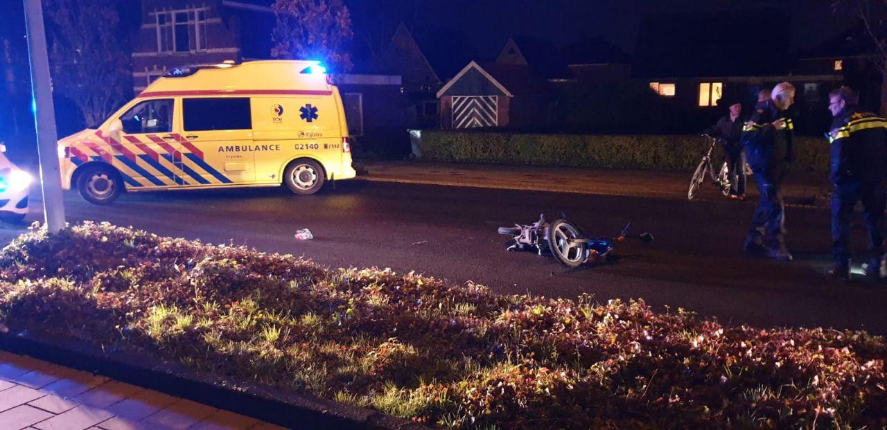 Scooterrijder in Botsing met andere scooterrijder en raakt gewond