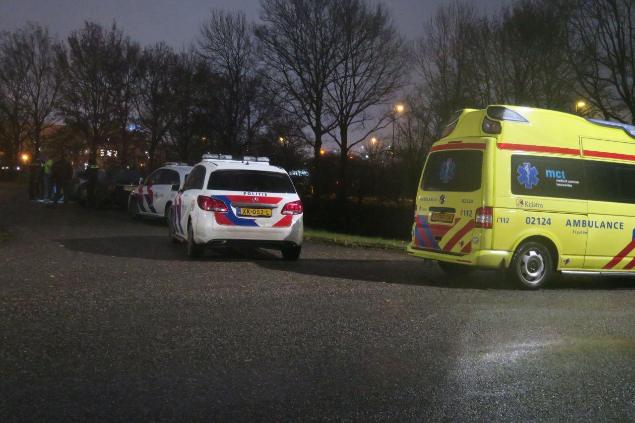 Materiële schade naar aanrijding tussen twee auto's bij Drachten