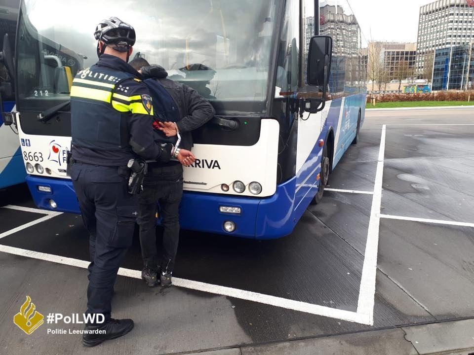 Drachtster winkeldief aangehouden op busstation Leeuwarden
