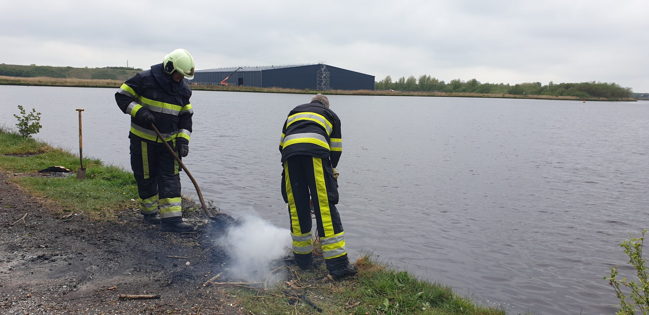 Brandstichting langs de Steven in Drachten