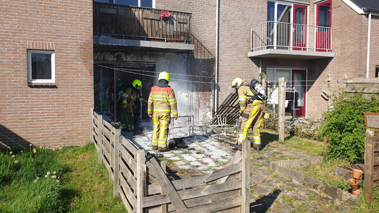 Woning beschadigd na brand in Ureterp