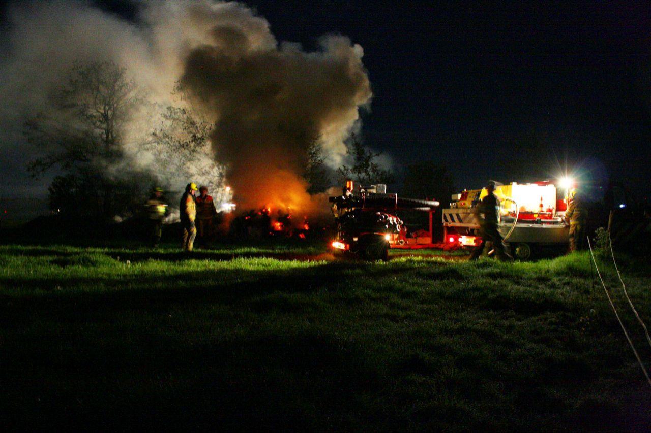 Brandweer Beetseterzwaag rukt uit voor drie brandhaarden net buiten Olterterp