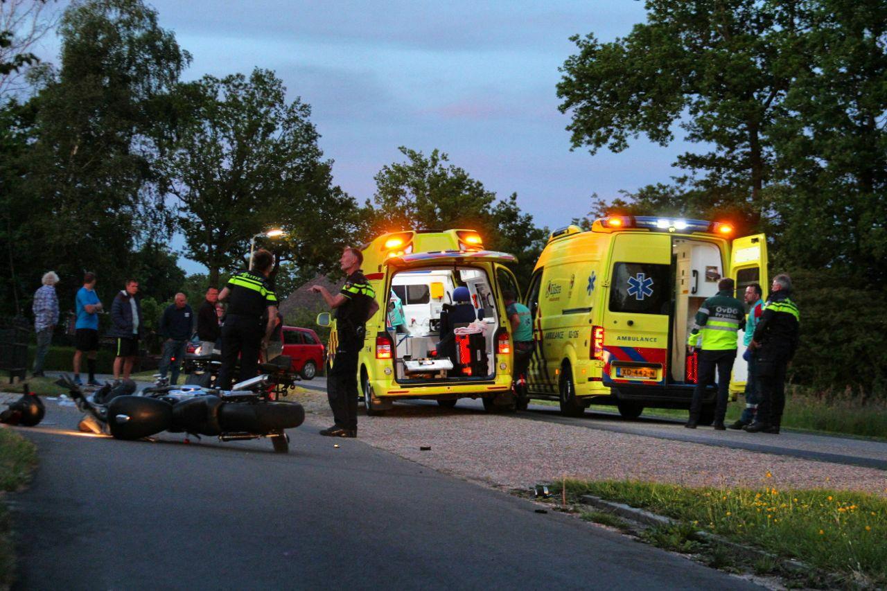 Video Motorrijder raakt ernstig gewond na eenzijdig ongeval op de Feart bij Ureterp