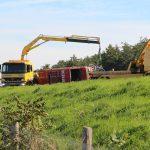 Eenzijdig ongeval op de A7 bij Marum lange file in de richting van Friesland