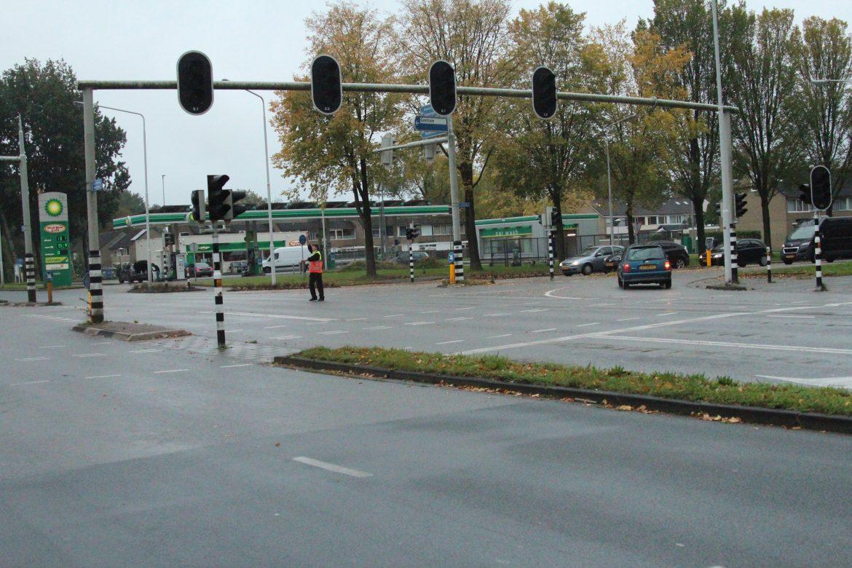 Video Storing verkeerslichten zorgt voor verkeershinder op de Zuiderhogeweg in Drachten