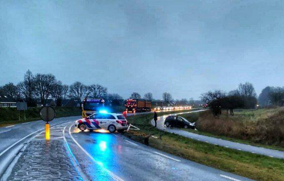 Bestuurder ongedeerd na eenzijdig ongeval op de Rondweg in Lemmer