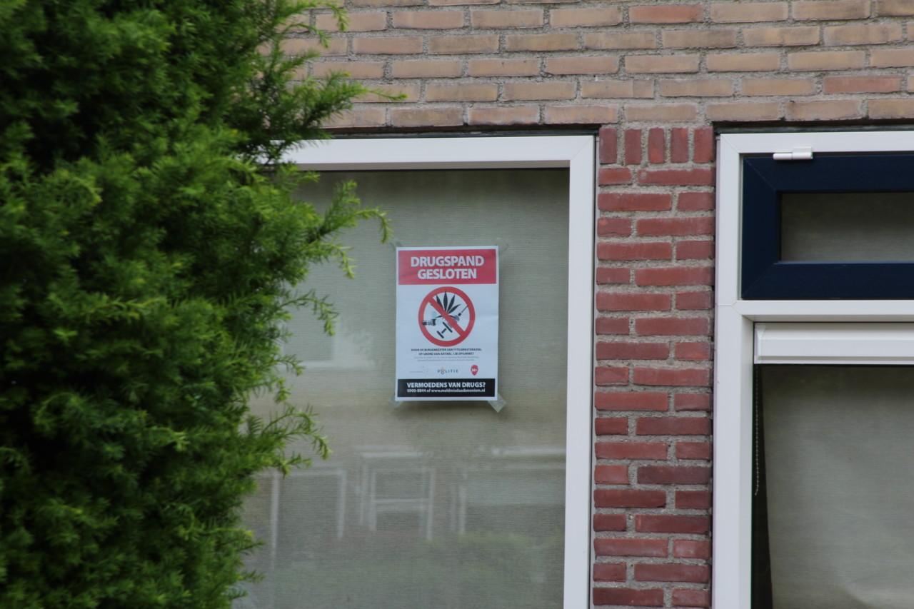Burgemeester sluit wederom drugspand in Heerenveen