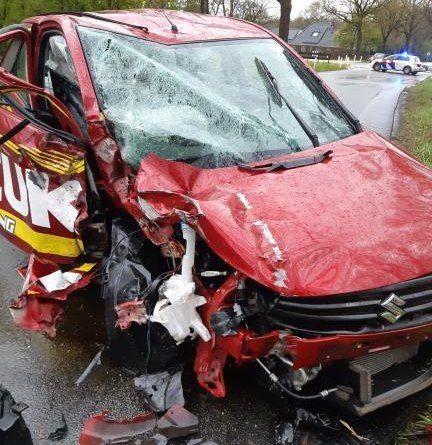 Bestuurder vlucht na ongeval op de Olderberkoperweg N353 bij Oudehorne
