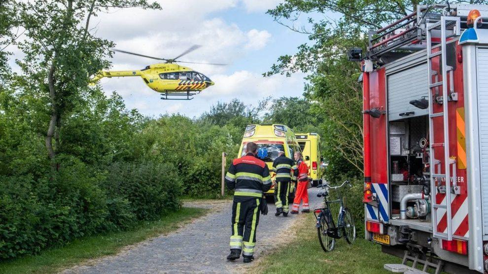 Twee Helikopters ingezet voor ontploffing in tent op Camping in Formerum