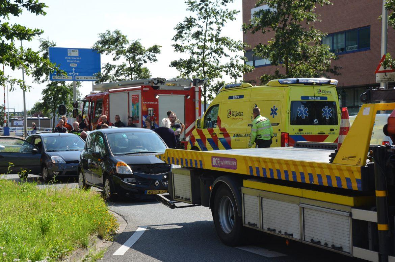 Één persoon gewond bij  kop-staartbotsing in Leeuwarden