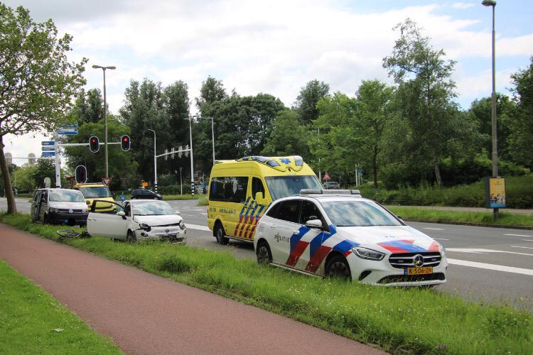 1 persoon gewond na botsing in Leeuwarden